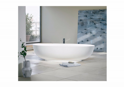 Puro Clearwater Modern Bath - 1700 x 750mm, Clear Stone, Optional Stainless Base